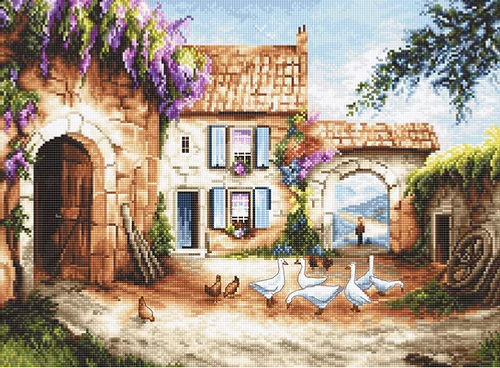 Village Letistitch Counted Cross Stitch Kit