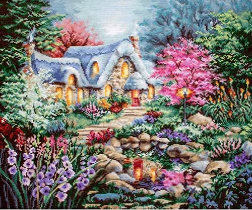Cottage Pond Letistitch Counted Cross Stitch Kit