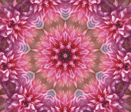 Flower Fractal Counted Cross Stitch Pattern - PDF Download