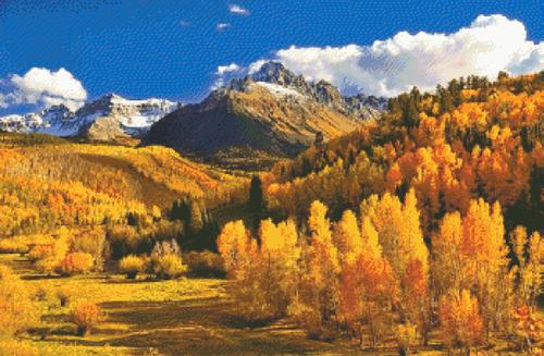 Colorado Fall Counted Cross Stitch Pattern