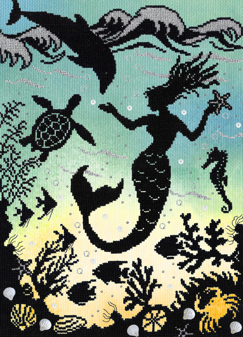 Enchanted: Mermaid Cove Bothy Threads Counted Cross Stitch Kit
