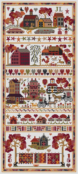 Quiltz - Long Dog Samplers Counted Cross Stitch Pattern
