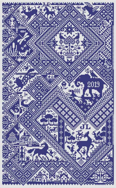 Sans Soucis - Long Dog Samplers Counted Cross Stitch Pattern