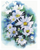 Watercolor Daisies Counted Cross Stitch Pattern - PDF Download