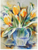 Watercolor Tulips Counted Cross Stitch Pattern - PDF Download