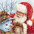 Santa Claus and Snowman Letistitch Counted Cross Stitch Kit