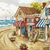 Shops By the Sea Letistitch Counted Cross Stitch Kit