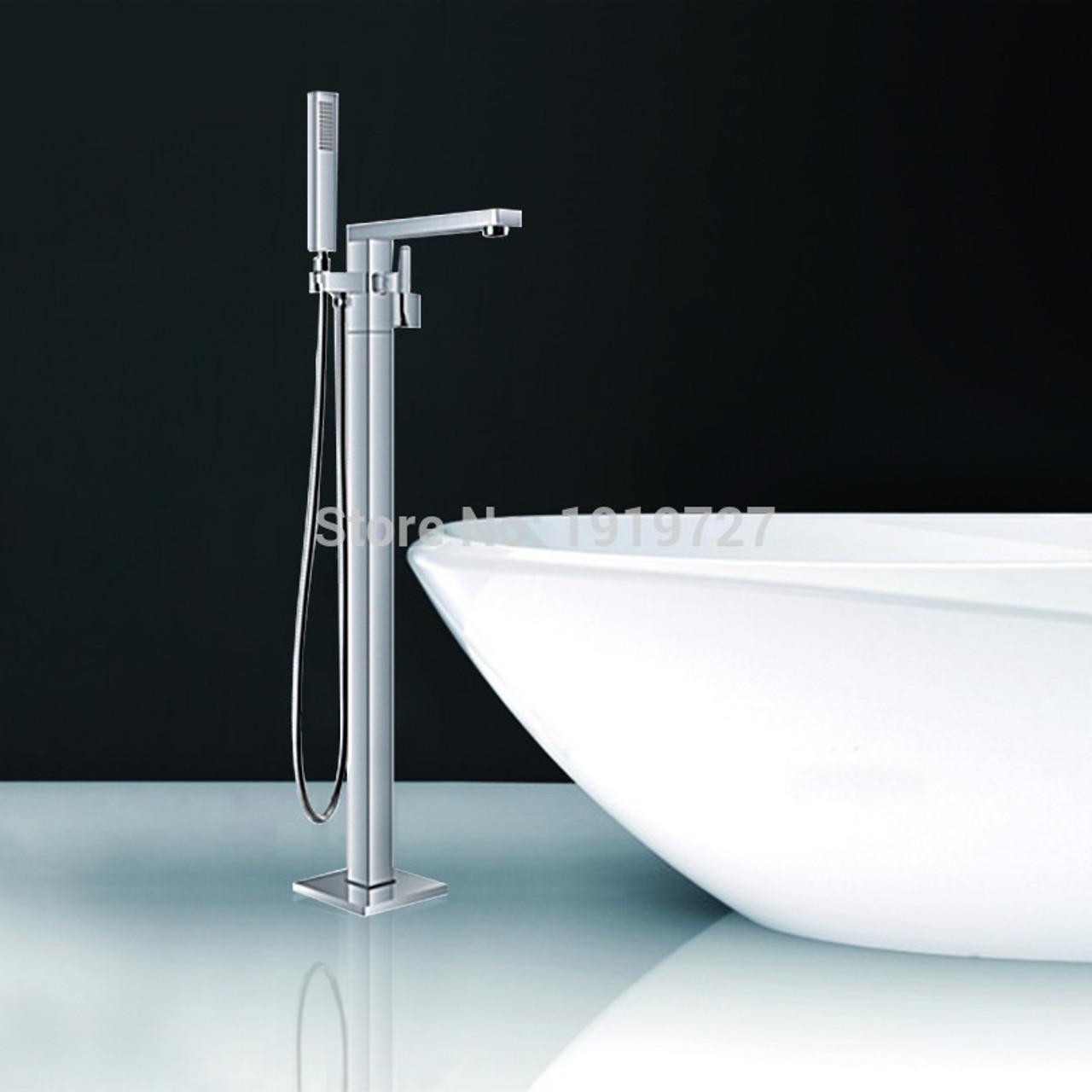 Royal Nova Square Freestanding Tub Filler Chrome American Bath