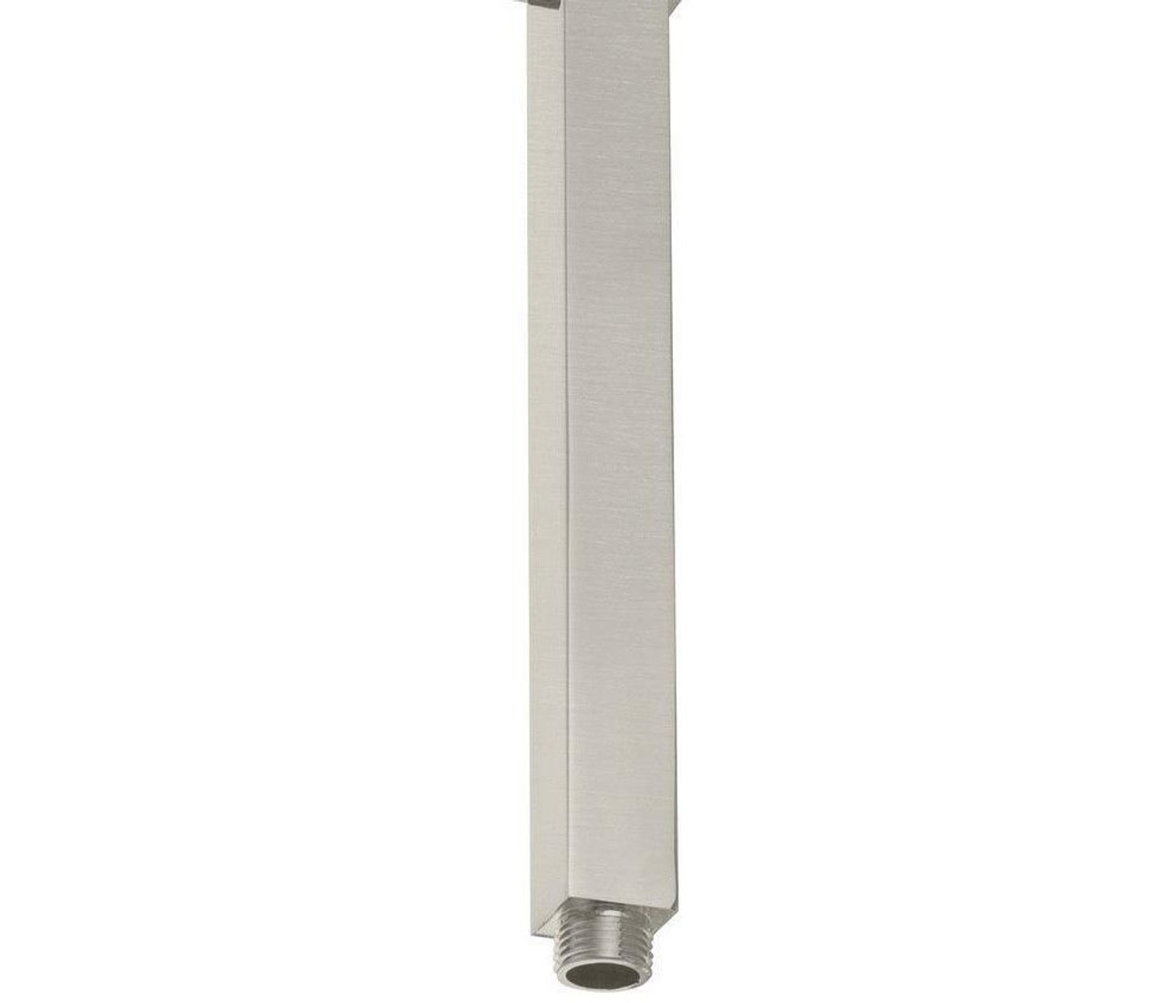 Royal Square Ceiling Mounted Shower Arm For Rain Shower Heads 8 Inch Brushed Nickel