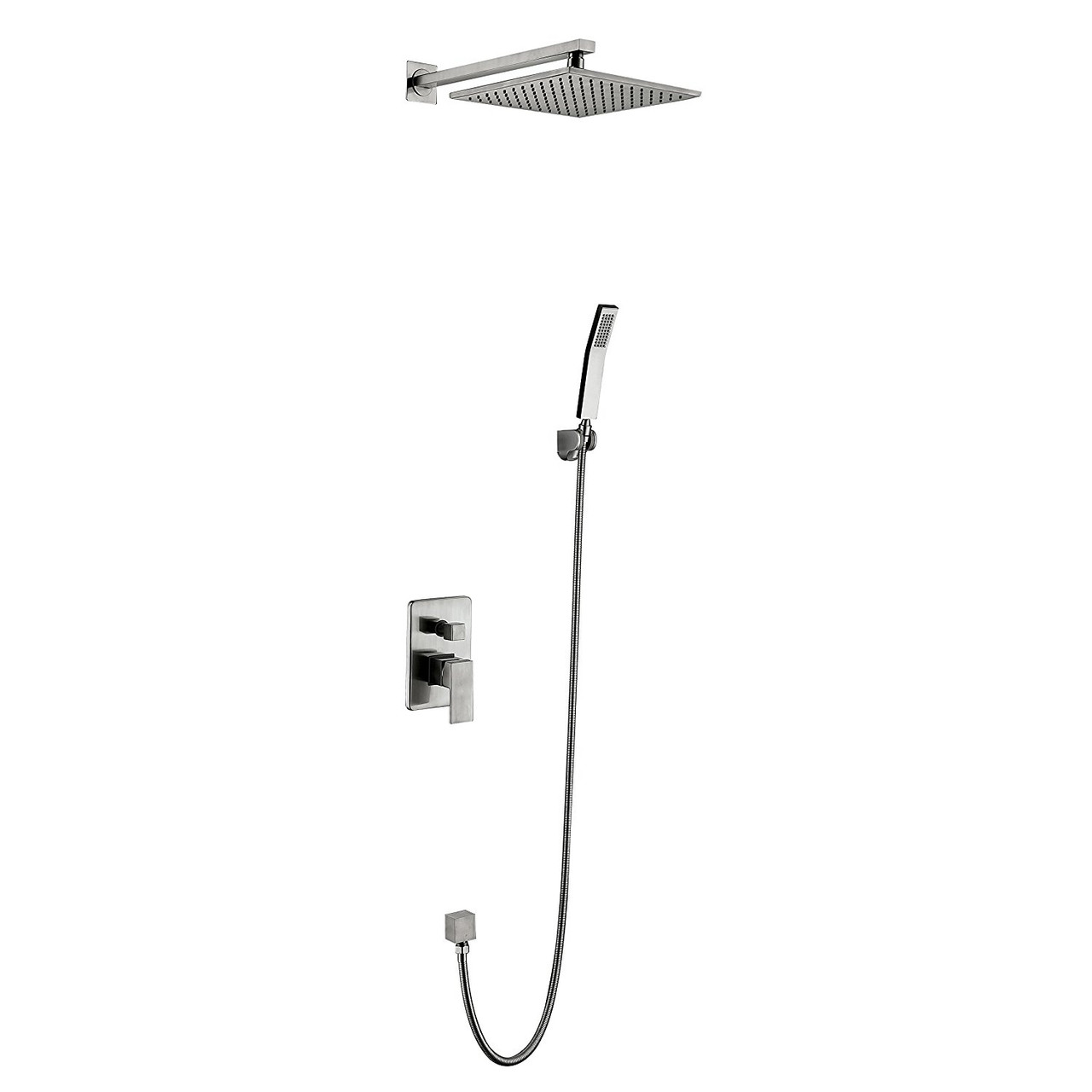 Royal Tampa 2 Way Shower System With Handheld Brushed Nickel Finish