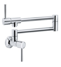 """Franke PF5200 Absinthe 5 5/8"""" Single Hole Wall Mounted Pot Filler With Finish: Polished Chrome"""