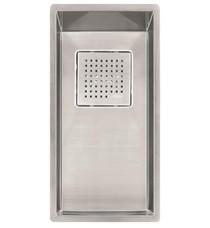 "Franke PKX1108 Peak 8 1/4"" Single Basin Undermount Stainless Steel Kitchen Sink"