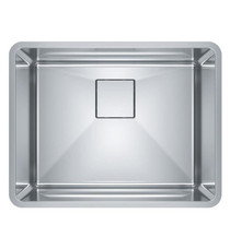 "Franke PTX110-22 Pescara 23 5/8"" Single Bowl Undermount Stainless Steel Kitchen Sink"