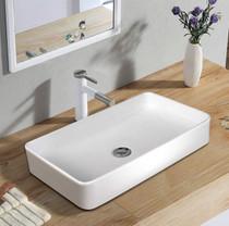 """Alaska 24"""" x 14"""" Rectangle Bathroom Vessel Sink, Porcelain Porcelain Ceramic Above Counter, Basin Vessel Vanity Sink Art Basin"""