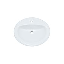 "PROFLO 20-1/2"" Self Rimming Oval Bathroom Sink"