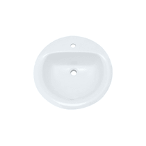 "PROFLO 19"" Self Rimming Round Bathroom Sink"