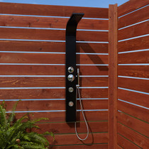 Signature Hardware Denton Thermostatic Outdoor Shower Panel with Shower Head, Hand Shower, and Bodysprays