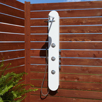 Signature Hardware Tyler Thermostatic Outdoor Shower Panel with Shower Head, Hand Shower, and Bodysprays