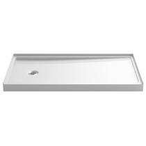 "Kohler Rely 32"" x 60"" Shower Base with Single Threshold and Left Drain"