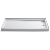 "Kohler Groove 60"" x 32"" Shower Pan with Right Drain"