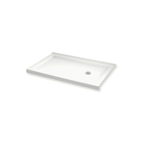 """Maax B3Round 59-7/8"""" x 35-7/8"""" Rectangular Shower Base with Double Threshold and Right Drain"""