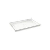 """Maax B3Round 59-7/8"""" x 35-7/8"""" Rectangular Shower Base with Double Threshold and Center Drain"""