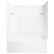 """Sterling Accord 60"""" x 31-1/4"""" x 75-1/2"""" Vikrell Shower with Drain Left and Tile Design"""
