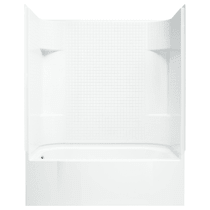 """Sterling Accord 60"""" x 31-1/4"""" x 73-1/4"""" Vikrell Shower with Drain Left and Tile Design"""