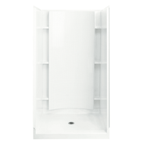 """Sterling Accord 42"""" x 37-1/4"""" x 77"""" Vikrell Shower with Drain Center and Recessed Shelves"""