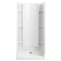 """Sterling Accord 36"""" x 37-1/4"""" x 77"""" Vikrell Shower with Drain Center"""