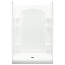 """Sterling Ensemble 48"""" x 34"""" x 77"""" Vikrell Shower with Drain Center and Age-in-Place Backers"""