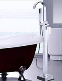 Royal Square Goose Freestanding Tub Filler Chrome