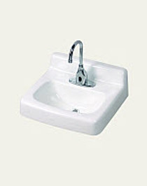 "12-904 Cast Iron 4"" Facuet Centers Wall Hung Lavatory"
