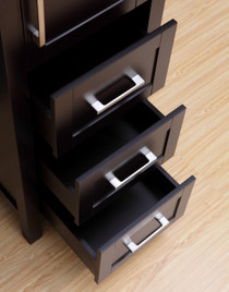 "18.5"" Espresso York  Linen Cabinet"