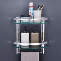Elegant Glass Corner 2 Shelves