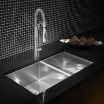 BLANCO QUATRUS U Stainless Steel Undermount 1 3/4 Bowl Sink