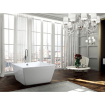 "Barbados 47"" Square Freestanding Bathtub"