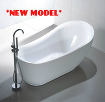 """Royal Figo 59"""" Freestanding Bath Tub **Builder Special"""