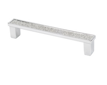 Topex |  Shiny Silver Crystal Cabinet Pull