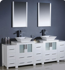 "Elsa 89"" Bathroom Vanity White"