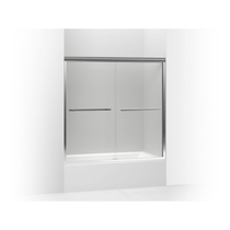 "Kohler | Gradient™ sliding bath door, 58-1/16"" H x 59-5/8"" W, with 1/4"" thick Crystal Clear glass"