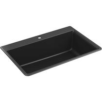 "Kohler   Kennon® 33"" x 22"" x 10-1/8"" Neoroc® top-/under-mount single-bowl kitchen sink"