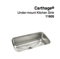 "Sterling Carthage® Under-Mount Single-Bowl Kitchen Sink, 31-7/8"" x 18-1/16"" x 9-5/16"""