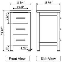 """Oakland 13"""" Gray Side Linen Cabinet"""