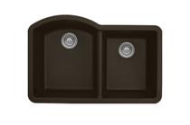 """Karran Double Bowl Undermount Kitchen Sink Brown Finish 32""""x 21"""""""