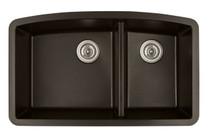 """Karran Double Bowl Undermount Kitchen Sink Brown Finish 32-1/2"""" x 19-1/2"""""""