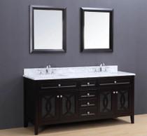 """Royal Bayside 72"""" Double Sink Bathroom Vanity"""
