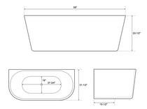 "York  59"" Freestanding bath tub"