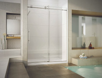 Fleurco KN57 KN Kinetik In-Line 60 Sliding Shower Door and Fixed Panel