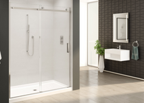 "Fleurco NH148-11-40-75 Horizon Sliding Door and Fixed Panel With Width: 48"" And Height: 75"" And Finish: Bright Chrome"